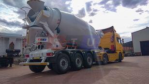 uudet STU 12.7 CBM MIXER TRAILER betonisekoitin puoliperävaunu
