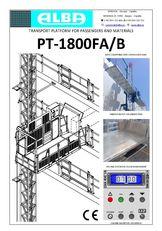 uudet PT ALBA 1800FA/B mastolava