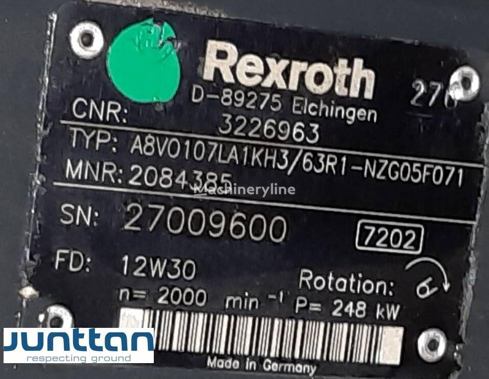 uudet kaivuri Rexroth hydraulic pump A8VO107LA1KH3 (R902084385) hydraulimoottori